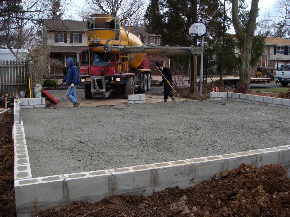Oshust n j detached garage for How to build a garage floor