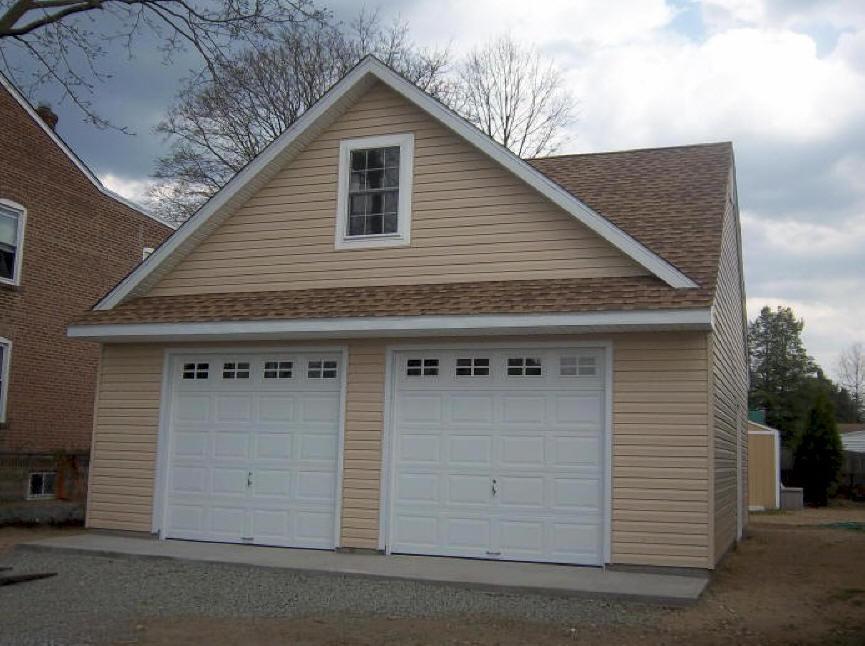 Amish Made Garages : Amish road crew garage builders we build garages for
